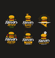 american food logo burger cheeseburger vector image
