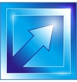blue arrow icon vector image