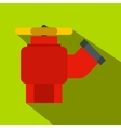 Fire hydrant with valve flat icon vector image