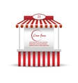 Market stand stall for promotion sale Shopping vector image