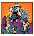 Media paparazzi terrorizing people vector image