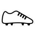 soccer shoe icon vector image