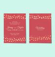 wedding invitation with light garlands vector image