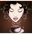 Woman enjoying coffee vector image