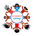 summer camp template vector image vector image
