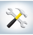 hammer and wrench icon vector image vector image