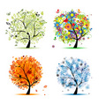 seasons vector image