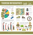 Tourism Infographics Set vector image