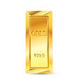 Gold Brick vector image