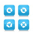 Blue arrow refresh reload rotation repeat sign vector image