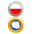 button as a symbol POLAND vector image