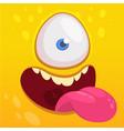 cartoon happy funny aline character one eye vector image