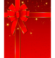 Christmas design with bow vector image