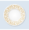 Decorative plate with floral ornament vector image
