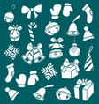 dooddle christmas elements vector image