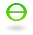 Earth day symbol theta vector image