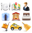 Hotel icons set vector image
