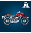 Motorcycle mechanical parts silhouette icon vector image