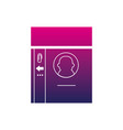 silhouette personal identification card access id vector image