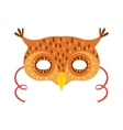 Owl Animal Head Mask Kids Carnival Disguise vector image