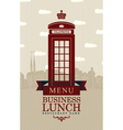business lunch london vector image vector image