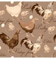 Seamless cocks and hens vector image