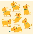 Cartoon Dog poses Isolaed vector image