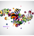 Abstraction 3d background vector image vector image