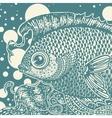 vintage fish vector image