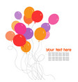 colorful bunch of balloons vector image