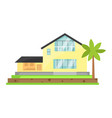 house cartoon town building vector image