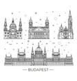 hungarian travel landmark of historical buildings vector image