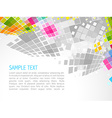 mosaic wave background vector image