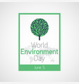 world environment day icon vector image