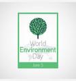 world environment day icon vector image