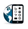 tablet internet of things design vector image