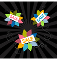 Sale Titles on Abstract Leaves Background vector image vector image
