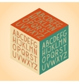 The Roman alphabet vector image