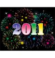 new year 2011 and fireworks vector image