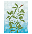 background with a olive branch vector image vector image
