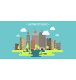 Spring summera City vector image