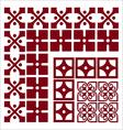 retro-arabesque-borders vector image