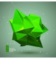 Abstract geometric shape triangular Crystal vector image