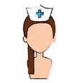 beutiful nurse shirtless avatar character vector image