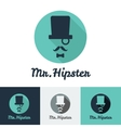 modern flat hipster face logo set for clothes shop vector image