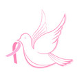 national breast cancer awareness month dove with vector image