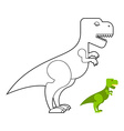 T-rex dinosaur coloring book Scary big vector image