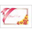 with pink flower vector image vector image