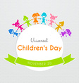 Universal Children day poster vector image vector image