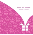 colorful cupcake party Christmas gift box vector image vector image
